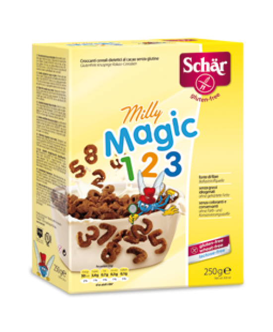 Schar Milly Magic 123 Croccanti Cereali Al Cacao Senza Glutine 250g - FARMAPRIME