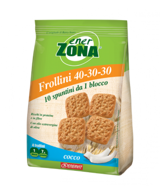Enervit EnerZona Frollini 40-30-30 Cocco 250g - Farmawing