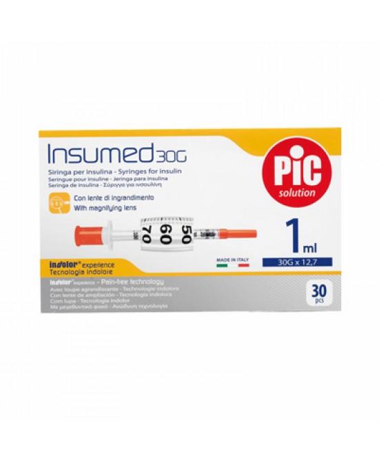 Pic Siringa Per Insulina 1ml 30g 12,7mm 30 Pezzi