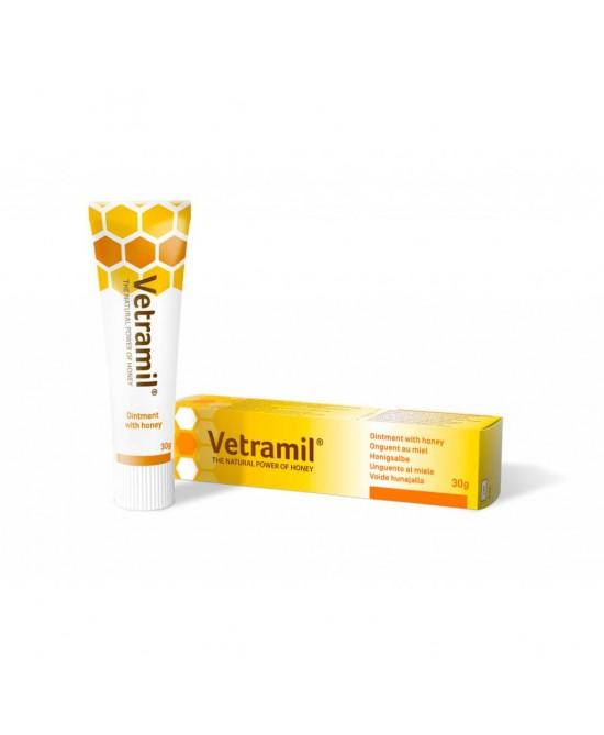 Vetramil Pomata Al Miele Cicatrizzante Uso Veterinario 30g - FARMAPRIME