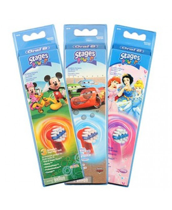 Oral-B Testine Di Ricambio Stages Power Kids 3 Ricambi - Farmastar.it