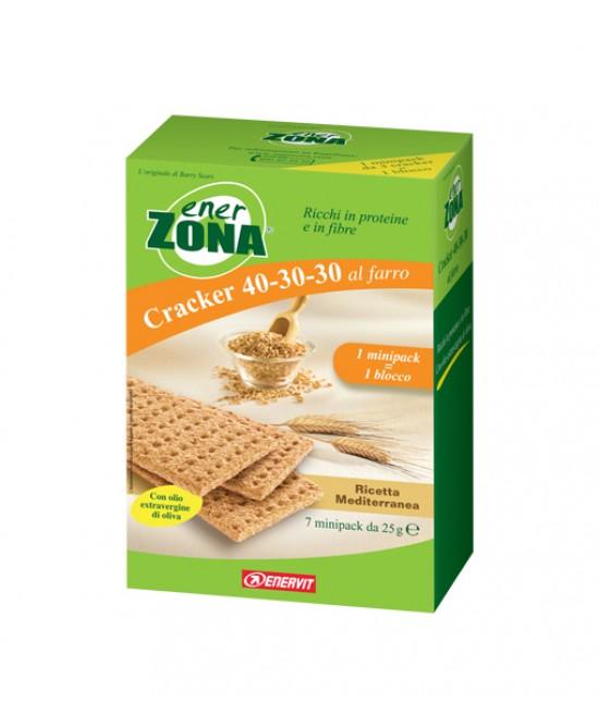 EnerZona Cracker 40-30-30 al Farro Ricetta Mediterranea 7 x 25 g - Farmalilla