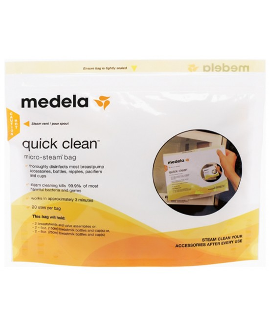 Medela Quick Clean Sacca Per Microonde 5 Pezzi - Farmastar.it