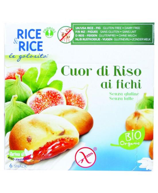 Rice&Rice Cuor Di Riso Ai Fichi Biologico 6x33g - FARMAEMPORIO