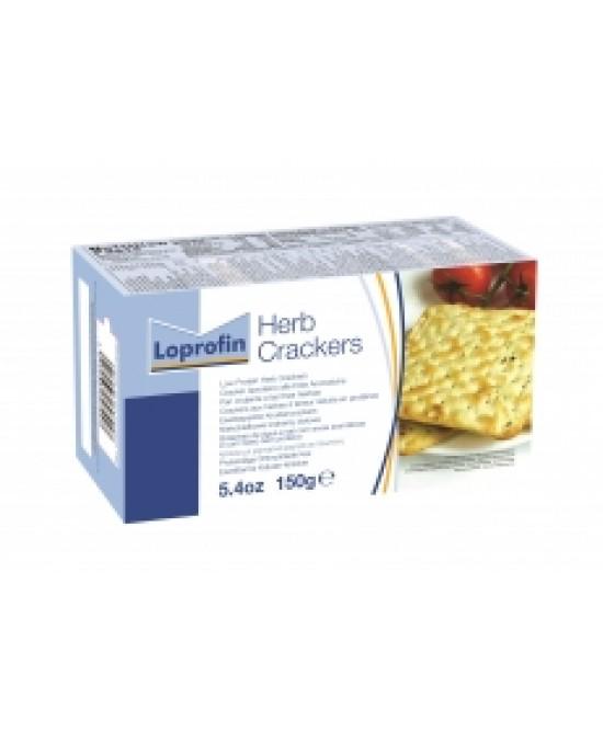 Loprofin Crackers Alle Erbe Aromatiche Aproteici 150g - Farmapage.it