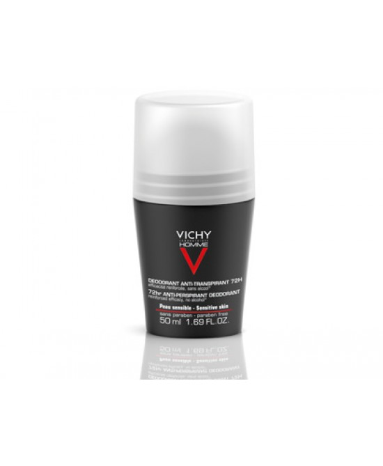 Vichy Homme Deodorante Anti-Traspirante Roll-On 72H - Farmapage.it