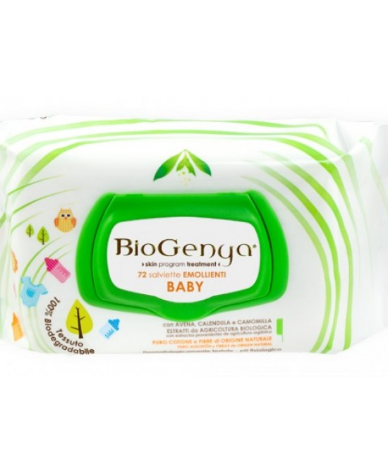 Biogenya Baby Salviette  Emollienti 72 Pezzi - Sempredisponibile.it