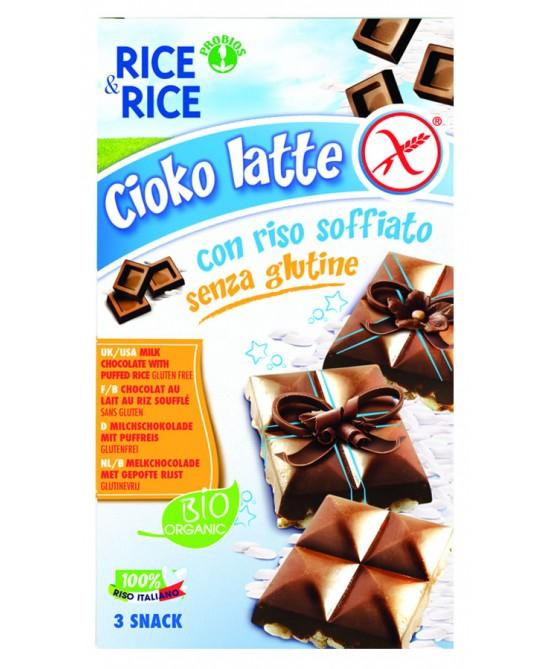 Rice&Rice Cioko Latte Con Riso Soffiato Bio Senza Glutine 75g - FARMAEMPORIO