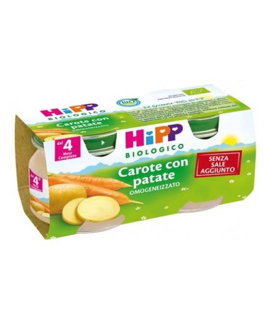 Hipp Biologico Omogeneizzato Carote Con Patate 2x80g - Farmawing