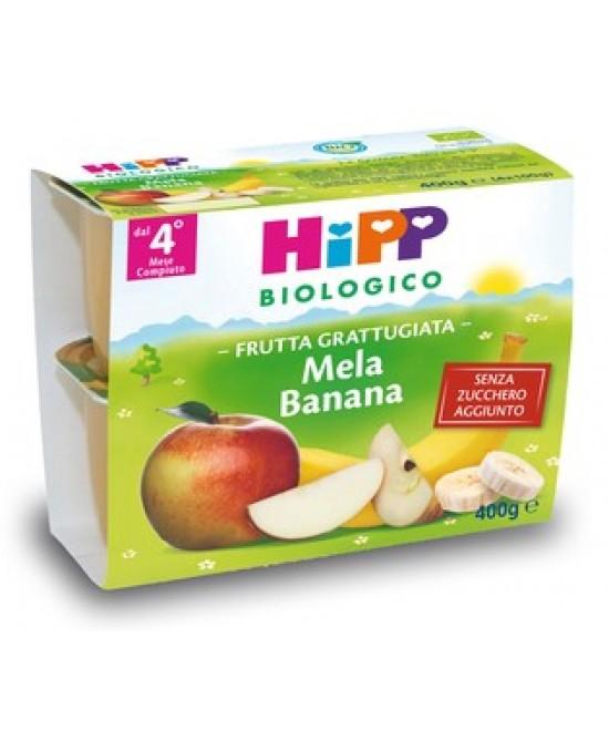 HiPP Biologico  Frutta Grattugiata Mela Banana 4x100g - Farmajoy