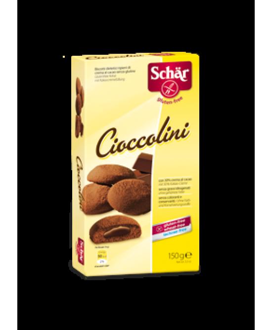 Schar Cioccolini Biscotti Ripieni Di Crema Al Cacao Senza Glutine 150g - Farmapage.it