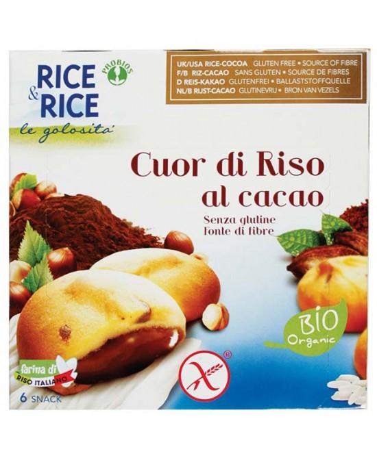 Rice&Rice Cuor Di Riso Al Cacao Biologico 200g - FARMAEMPORIO