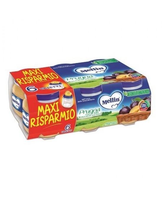 Mellin Omogeneizzati Di Frutta Prugna Con Mela 6x100g - Farmapage.it