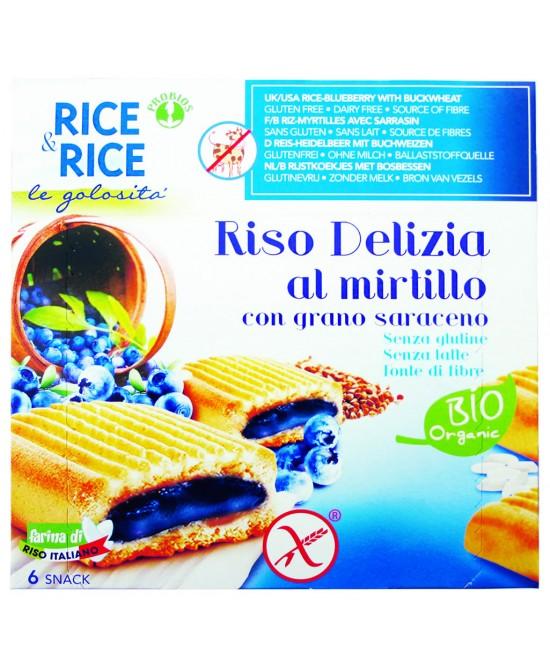Rice&Rice Riso Delizia Al Mirtillo Con Grano Saraceno Biologico 6x33 g