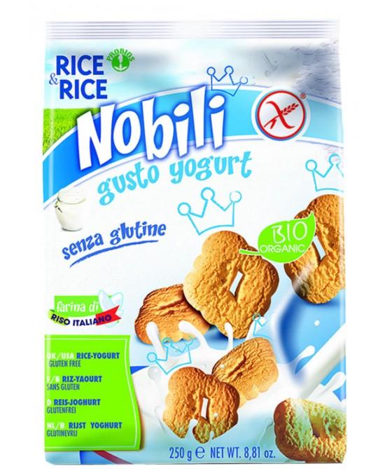 Rice&Rice Nobili Di Riso Con Yogurt Biologico Senza Glutine 250g - FARMAEMPORIO