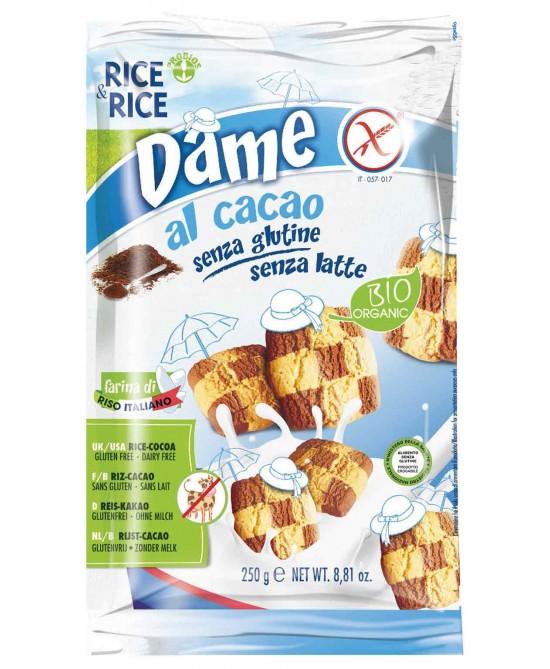 Rice&Rice Dame Di Riso Al Cacao Senza Glutine 250g - FARMAEMPORIO