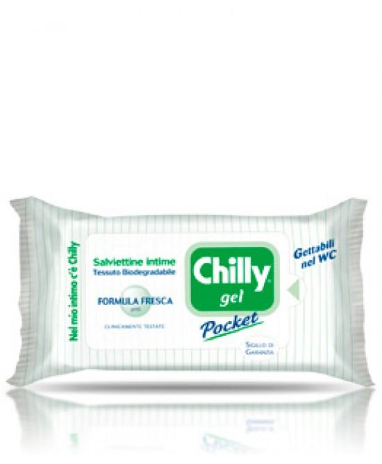 Chilly Gel Pocket Formula Fresca 12 Salviette Intime - FARMAEMPORIO