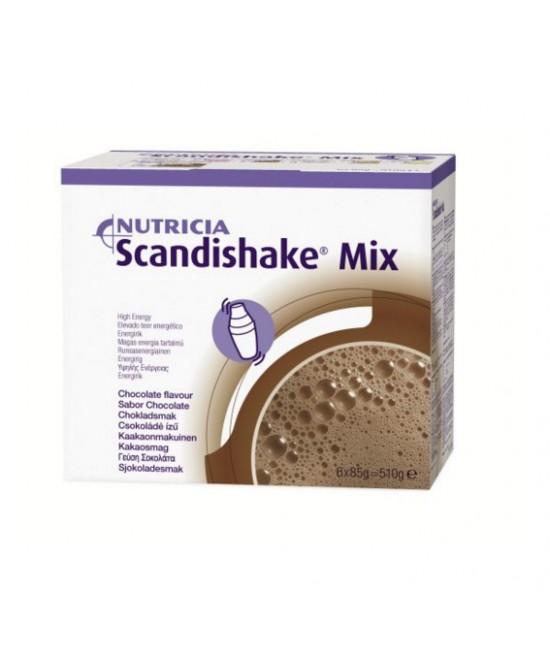 Nutricia Scandishake Mix Alimento Dietetico Gusto Cioccolato 6 Bustine