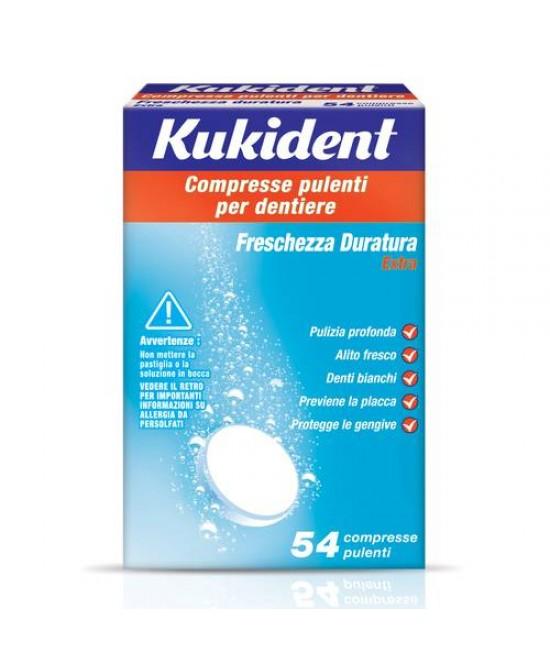Kukident® Freschezza Duratura Compresse Pulenti Per Dentiera 54 Compresse - Farmaciaempatica.it