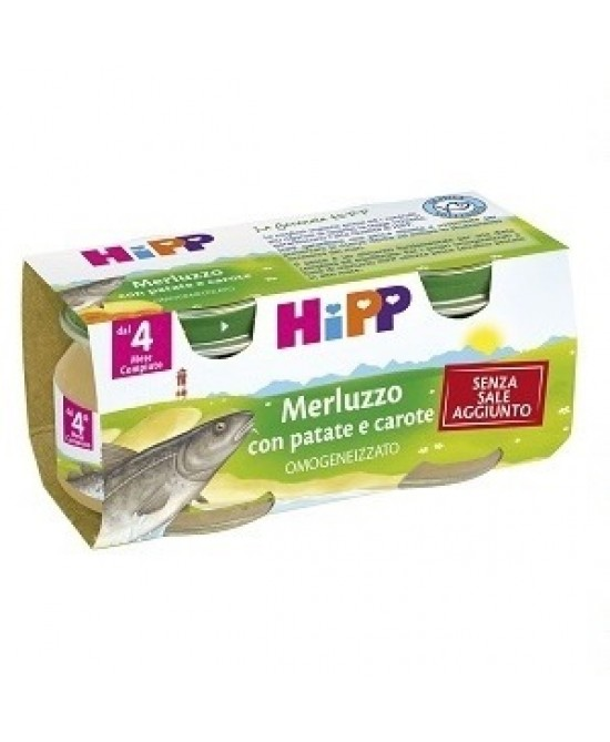 HiPP Omogeneizzato Merluzzo Con Patate E Carote 2x80g - Farmajoy