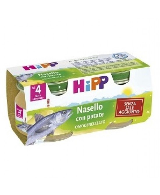 HiPP Biologico Omogeneizzato Nasello Con Patate 2x80g - Farmawing
