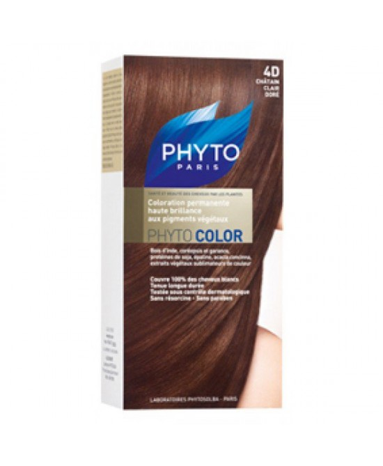 Phyto Phytocolor Colorazione Permanente Nuance 4D Castano Chiaro Dorato
