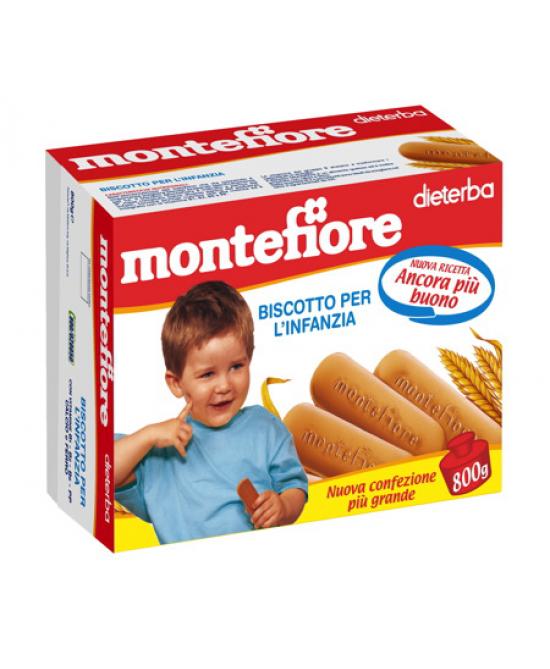 Dieterba Montefiore Biscotti 800g - Farmafamily.it