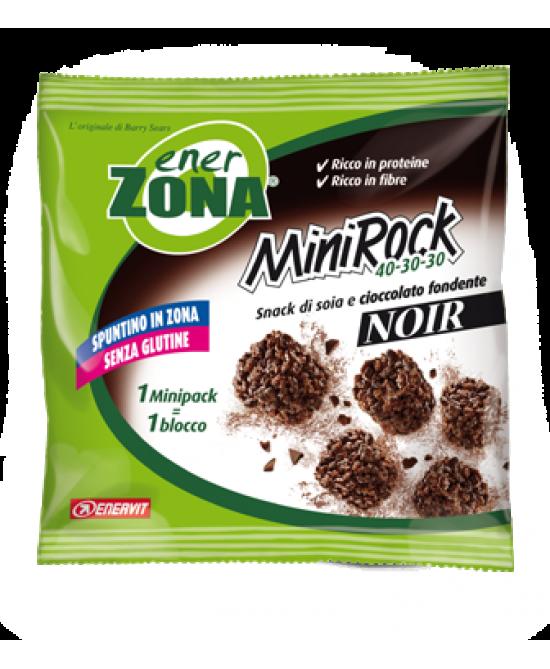 Enervit EnerZona MiniRock 40-30-30 Noir Snack Di Soia E Cioccolato Fondente 5 Biscotti 24g - Farmafamily.it