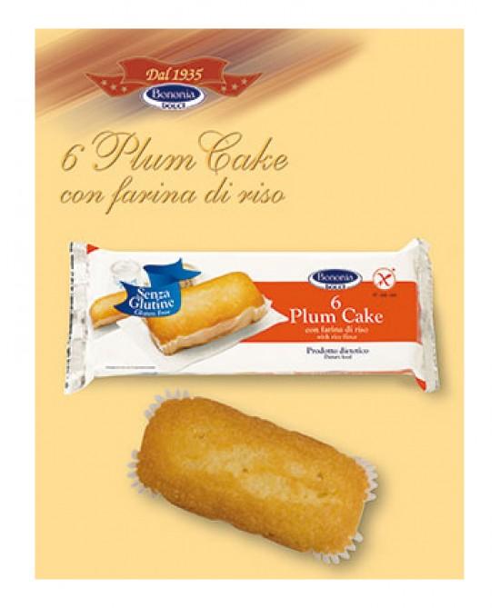 Bononia Plum Cake Con Farina Di Riso Senza Glutine 216g 6 Pezzi - FARMAPRIME