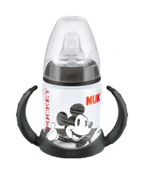 NUK FIRST CHOICE DISNEY MICKEY BIBERON PER IMPARARE A BERE DA 150 ML CON BECCUCCIO SOFT IN SILICONE MISURA 1 - Farmapage.it