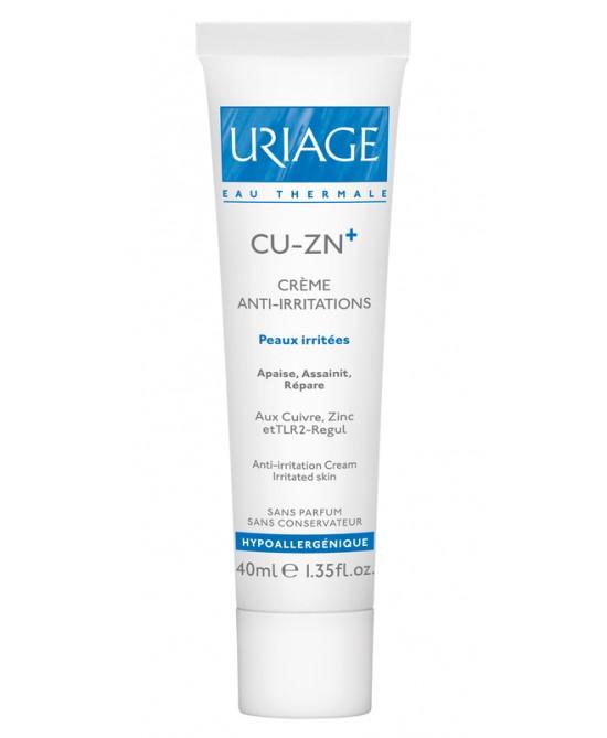 Uriage Cu-Zn+ Créme Anti Irritations Emulsione Anti Irritazioni Per Cute Aggredita E Irritata Tubo 40ml