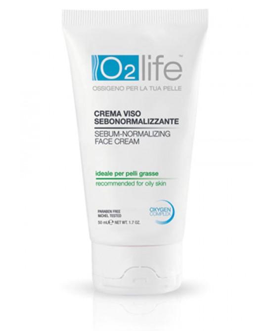 O2Life Crema Viso Sebonormalizzante 50 ml
