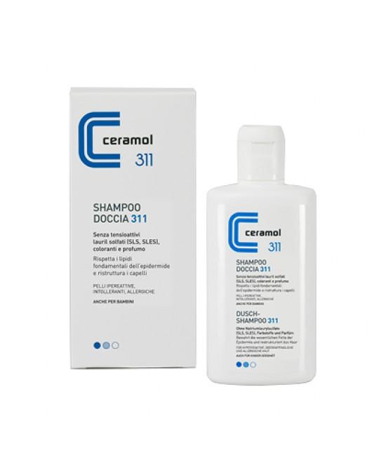 Ceramol Shampoo Doccia Corpo Capelli Pelle Sensibile 200 ml - Farmastar.it
