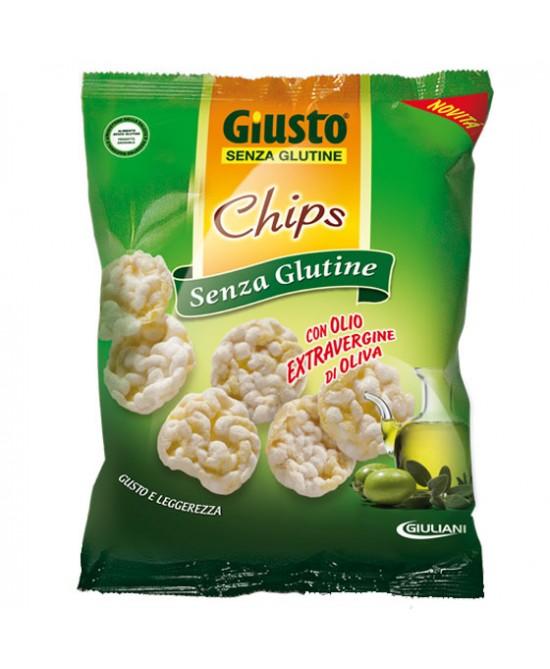 Giusto Senza Glutine Chips con Olio Di Oliva Snack Salato 30 g