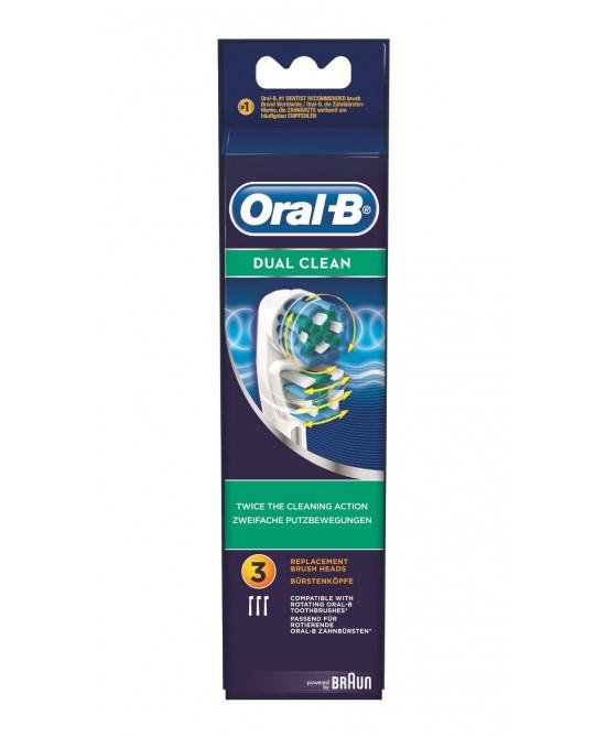 Oral-B Dual Clean Testine Di Ricambio Per Spazzolino Elettrico 3 Ricambi - La tua farmacia online