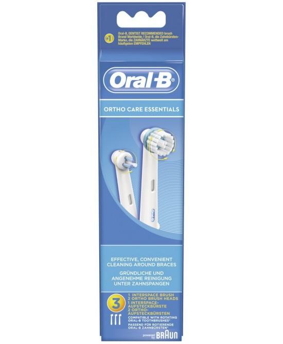 Oral B Testine di Ricambio Per Spazzolino Elettrico Ortho Care Essentials