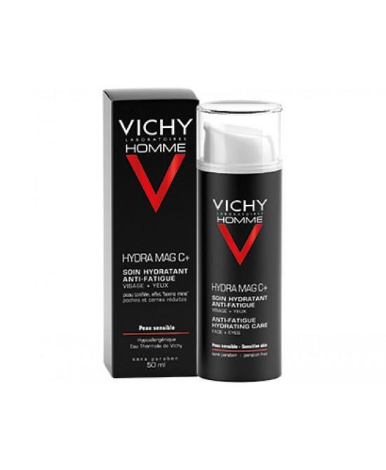 Vichy Homme Hydra Mag C + Trattamento Idratante Anti-Fatica Viso + Occhi 50ml - Farmajoy