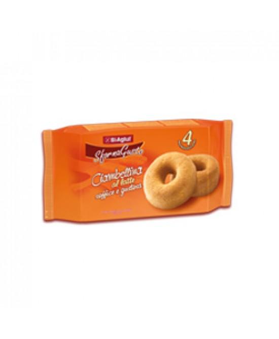 Biaglit Snack Senza Glutine Ciambellina Al Latte 180g - FARMAPRIME