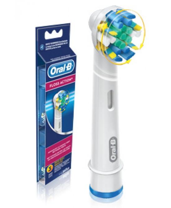Oral-B Floss Action Testine Di Ricambio Per Spazzolino Elettrico 3 Ricambi - Farmastar.it