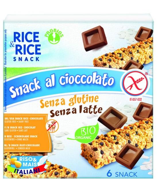 Rice&Rice Snack Al Cioccolato Biologico Senza Glutine Senza Latte 6x21g - FARMAEMPORIO