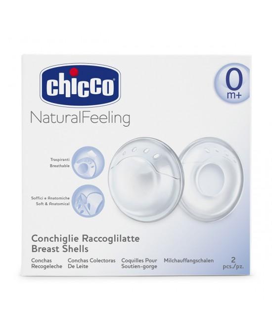 Chicco NaturalFeeling Conchiglie Raccoglilatte - Farmafamily.it
