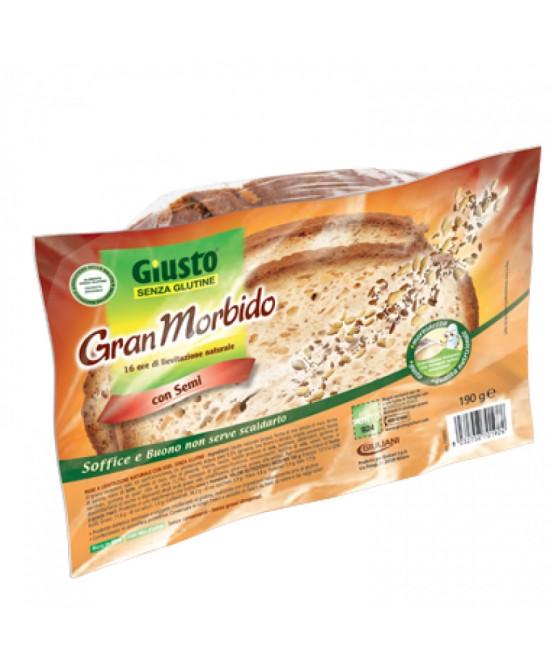 Giusto Senza Glutine Gran Morbido Pane Con Semi 190 g
