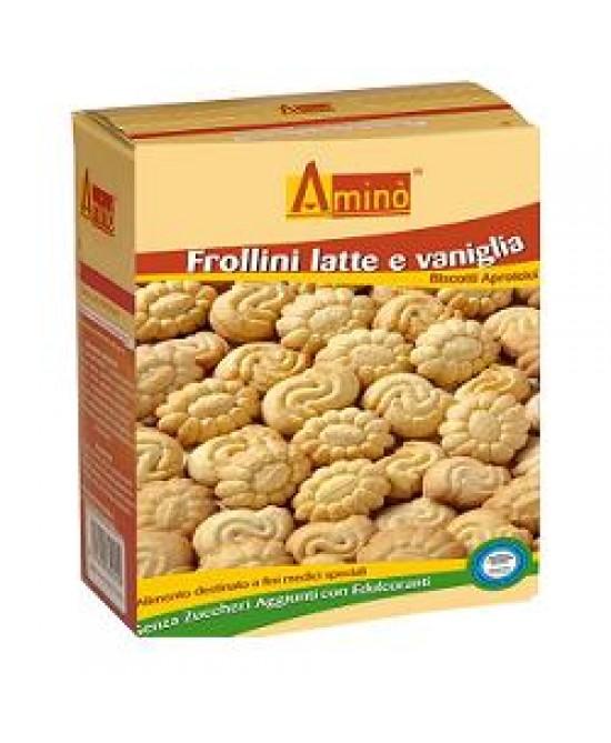 Aminò Frollini Latte e Vaniglia Biscotti Aproteici 200 g