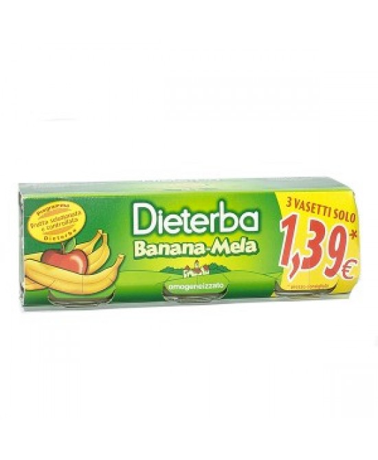 Dieterba Omog Banana/mela3x80g - Farmastar.it
