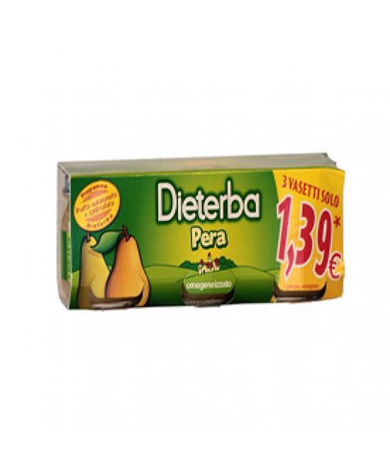 Dieterba Omogeneizzato Pera 3x80g - Farmastar.it