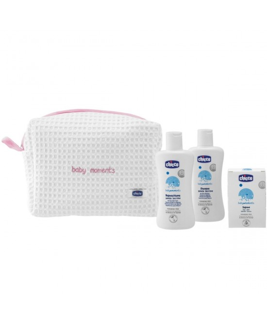 Chicco Baby Moments Beauty Case Con Zip Rosa - Farmacia 33
