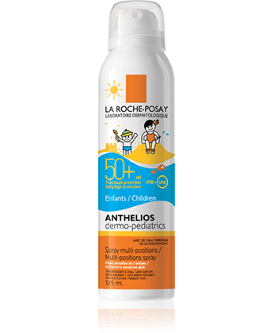 LA ROCHE POSAY SOLARI ANTHELIOS DERMO-PEDIATRICS SPF 50+ SPRAY MULTI-DIREZIONE 125 ML - Farmastar.it