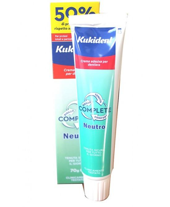 Kukident® Neutro Complete Crema Adesiva 70g - Farmacento