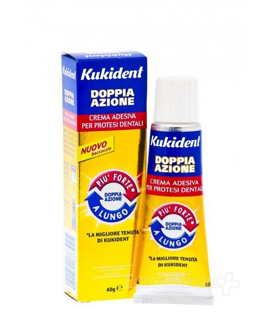 Kukident Doppia Azione Adesivo per Protesi Dentale 40 g - Farmalilla