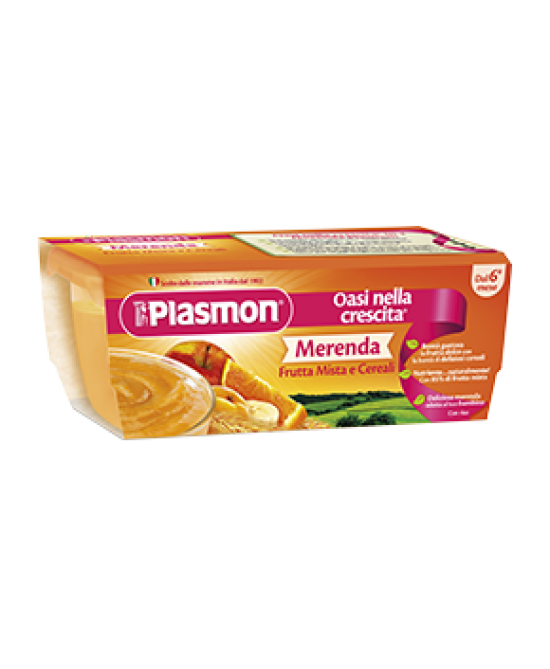 Plasmon Merenda Frutta Mista E Cereali 2x120g - La farmacia digitale